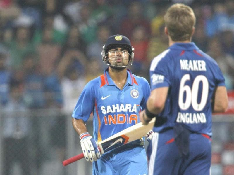 Virat Kohli is seen during the T20 cricket match against England at Wankhede Stadium in Mumbai. HT/Satish Bate