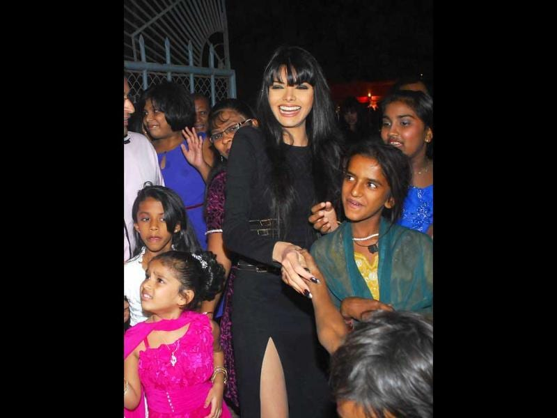 Sherlyn Chopra was seen celebrating Christmas with streetkids in Mumbai.