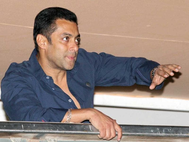Salman Khan waves at his fans on his birthday. Salman Khan turns 47 on Thursday.