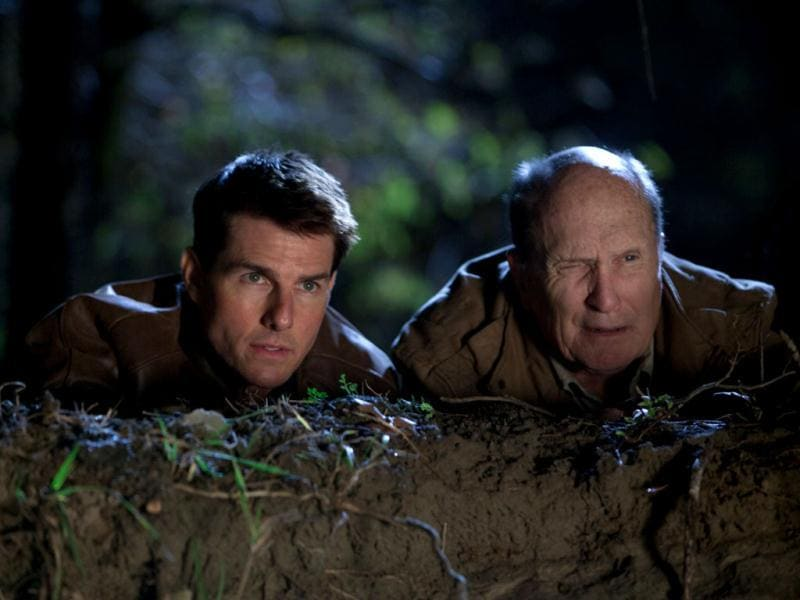 Tom Cruise and Werner Herzog in a still from Jack Reacher.