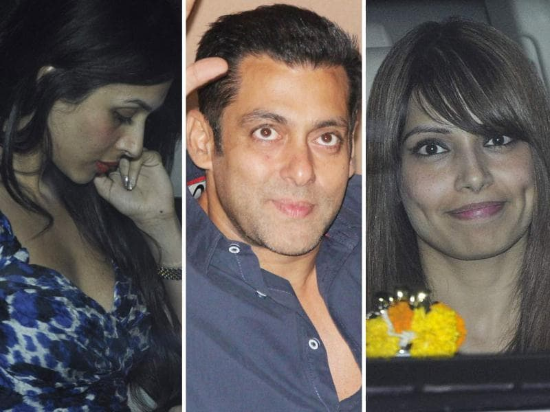 Malaika Arora Khan, Bipasha Basu visit Salman Khan on his birthday.