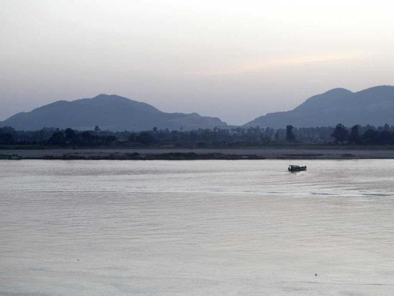 A general view of Letpadaung mountain, with Chindwin River in the foreground, in Sarlingyi township. (Reuters)