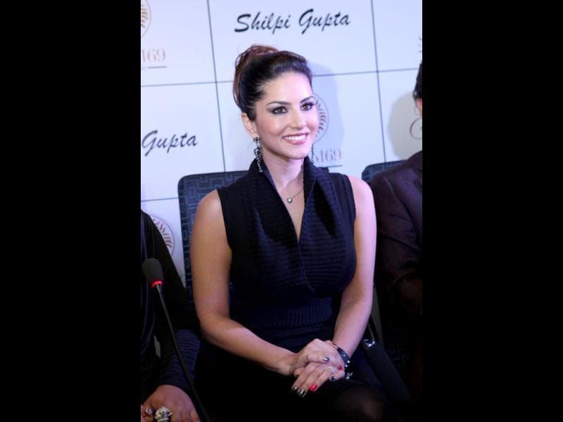 Adult star turned Bollywood actor Sunny Leone will perform at a five star hotel in the city on New Year's eve. The actress has already arrived in Delhi. (Photo/Manoj Verma)