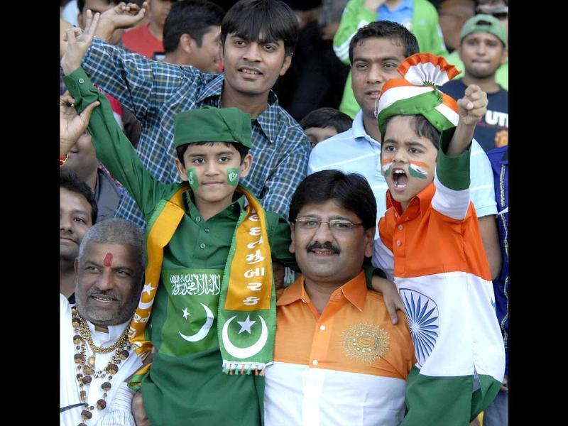 Audience at Sardar Patel Stadium in Ahmedabad during the second India vs Pakistan T20 cricket match. UNI
