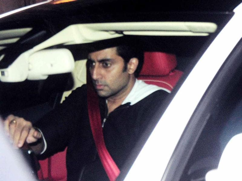 Abhishek Bachchan on the other hand, was headed to Ritu Nanda's new year party.