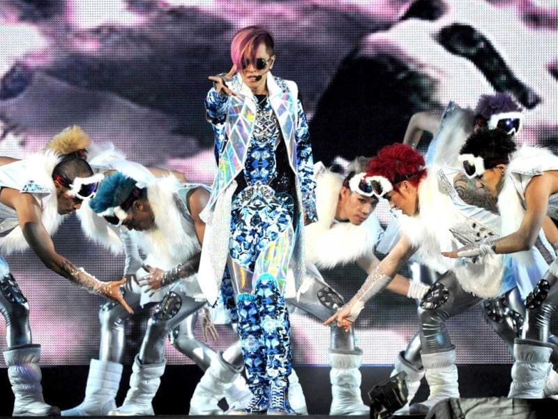 Taiwanese pop singer Show Lo performing during his Extreme Dance World l Live Tour at the Taipei Arena. AFP Photo