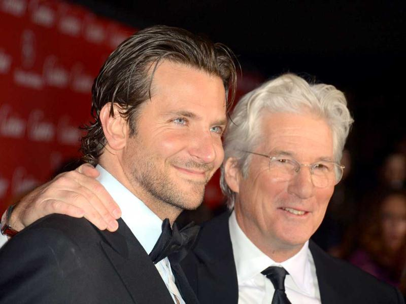 Bradley Cooper and Richard Gere arrive at the 24th annual Palm Springs International Film Festival Awards Gala at the Palm Springs Convention Center in Palm Springs, California. AFP Photo