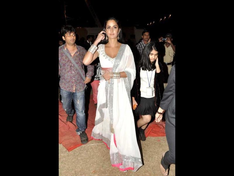 Katrina Kaif arrives at Umang Police Awards 2013. She also performed at the event.
