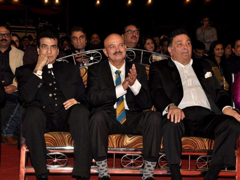 Yesteryear stars Jitendra, Rakesh Roshan and Rishi Kapoor at Umang 2013.