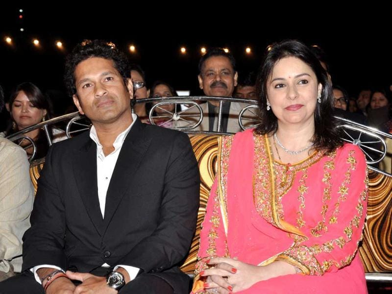 Sachin Tendulkar at Umang 2013. The annual Mumbai Police show grabs the attention of all celebrities in town.