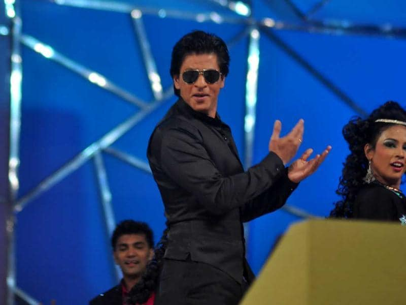 Shah Rukh Khan performs at Umang 2013 on Saturday night.