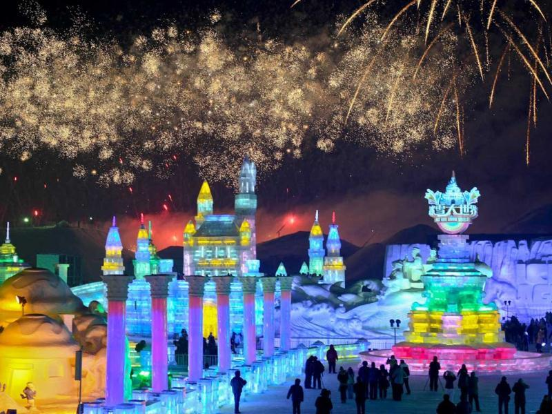 The opening ceremony of the 29th Snow and Ice Festival at China's one of the coldest hubs, Harbin saw an overwhelming crowd despite freezing temperatures. This year's