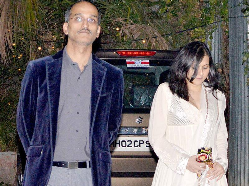 Rohan Sippy with his wife Roopa.