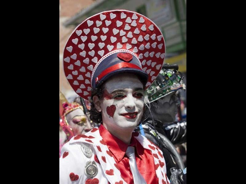 Revelers take part in the Devil's Carnival in Riosucio. Considered to be one of the oddest celebrations in the world, Riosucio Carnival is structured as a long dramatic poem written collectively by the