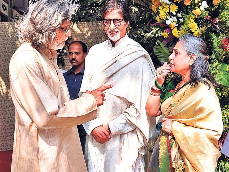 Amitabh and Jaya Bachchan too attended Shaad Ali's wedding.