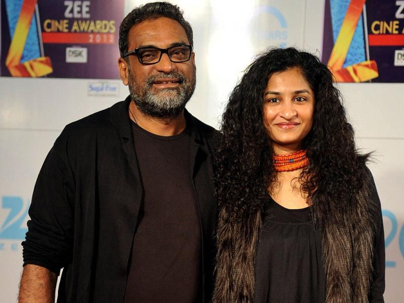 Bollywood director R Balki and his wife Gauri Shine attend the Zee Cine Awards ceremony in Mumbai on January 6, 2013. (AFP PHOTO)