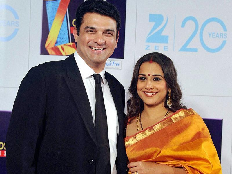 Vidya Balan and her husband Siddharth Roy Kapur, CEO, UTV Motion Pictures, at Zee Cine Awards 2013 on Sunday. (PTI Photo)