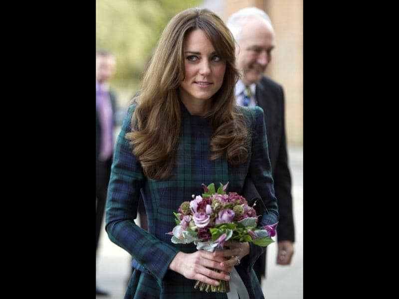 Kate's blue and green check outfit is so wearable that sometimes one forgets she's royalty!
