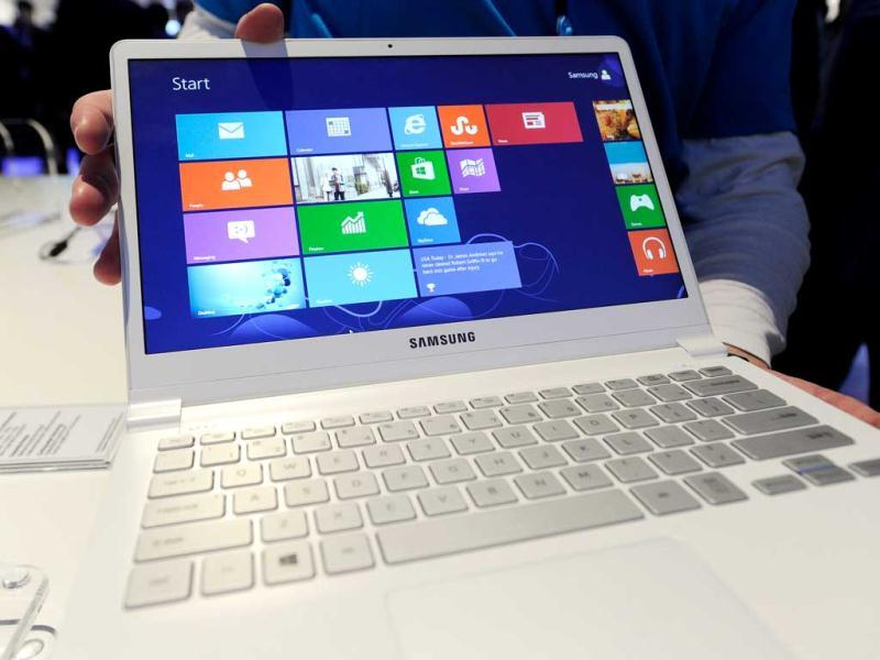 The Samsung Series 9 ultra laptop is on display at the 2013 International CES at the Las Vegas Convention Center. AFP photo
