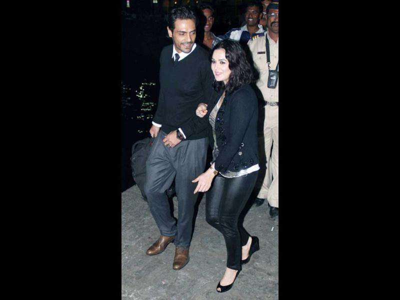 Arjun Rampal and Preity Zinta look happy in each other's company.
