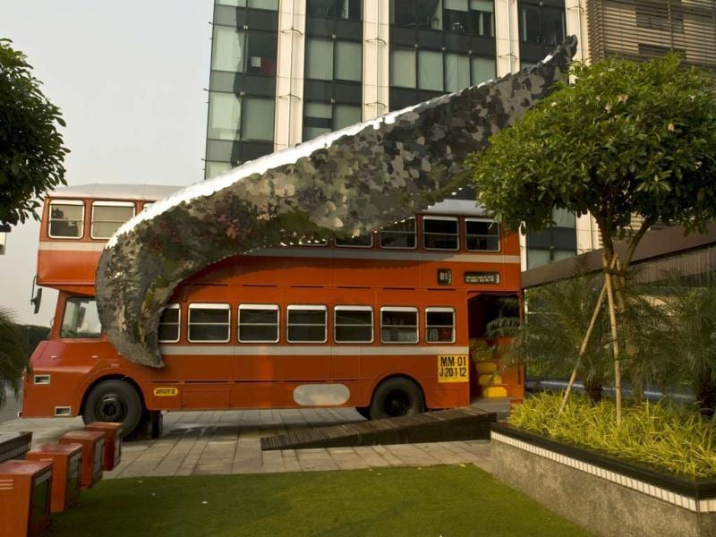 Flying Bus is India's foremost public art project. (Photo/Harikrishna Katragadda)