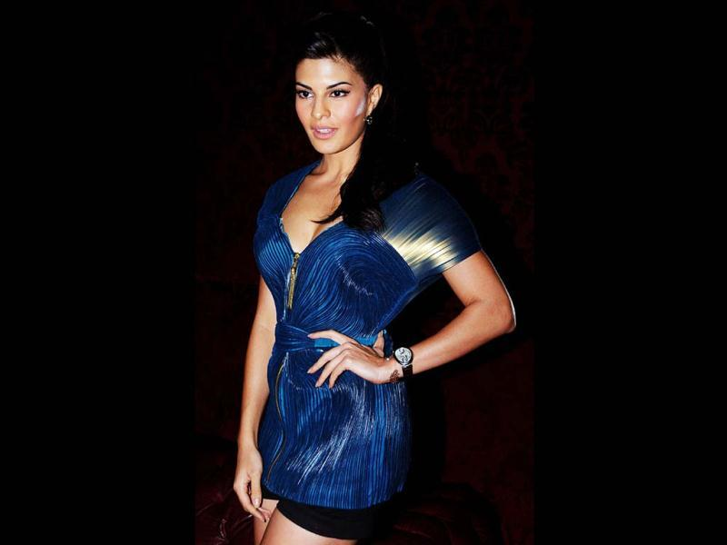 Jacqueline Fernandes poses during the launch of SOL Beer. (AFP PHOTO)