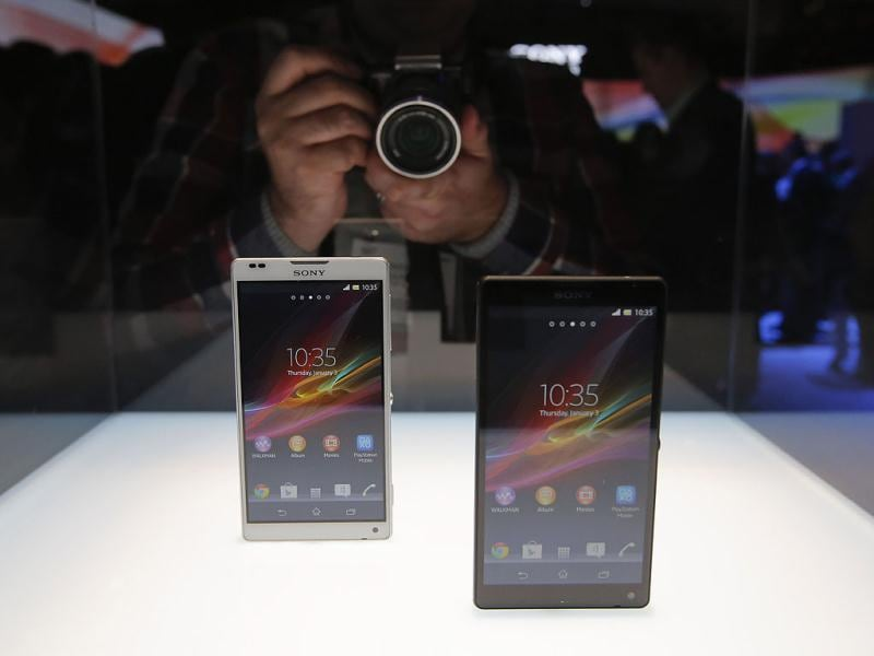 Sony's new Xperia Z smartphones are unveiled at the International Consumer Electronics Show in Las Vegas. AP Photo