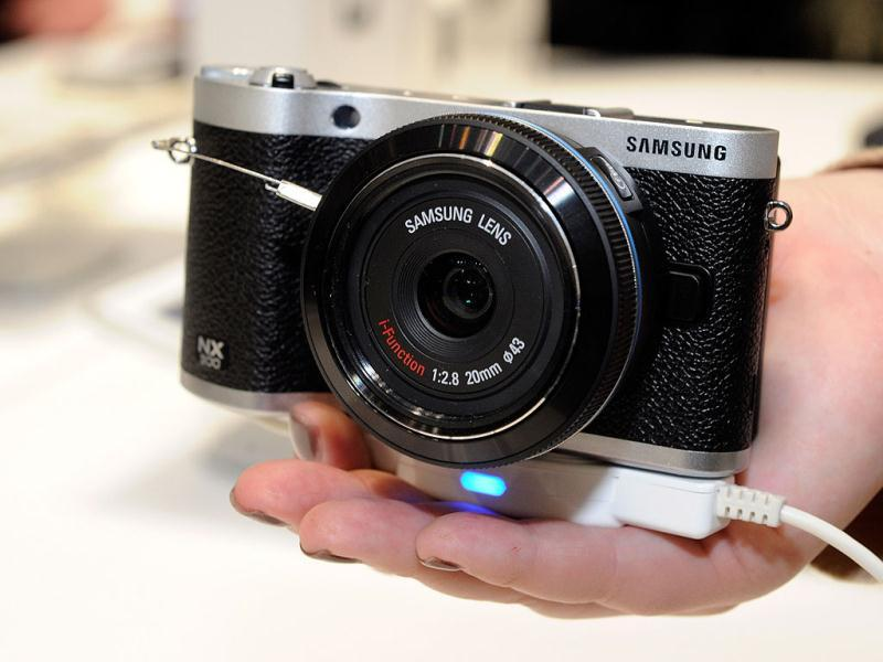 The Samsung NX300 digital camera is seen at the 2013 International CES at the Las Vegas Convention Center in Las Vegas, Nevada. AFP Photo