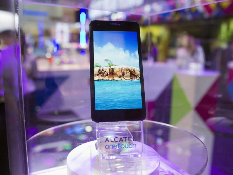 The Alcatel One Touch Idol Ultra mobile phone is displayed during the first day of the Consumer Electronics Show (CES) in Las Vegas. The phone is the world's thinnest at only 6.45mm. Reuters Photo