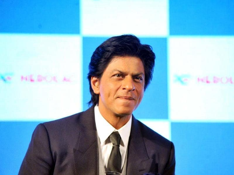Shah Rukh Khan gestures at the promotional event.