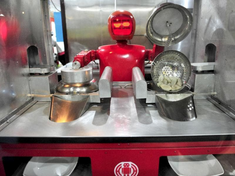 A robot that specialises in cooking, prepares
