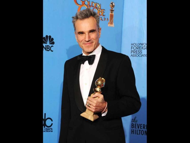 Actor Daniel Day-Lewis, winner of Best Actor in a Motion Picture (Drama) for Lincoln, at the 70th Annual Golden Globe Awards held on January 13, 2013 in Beverly Hills, California. (Kevin Winter/Getty Images/AFP Photo)