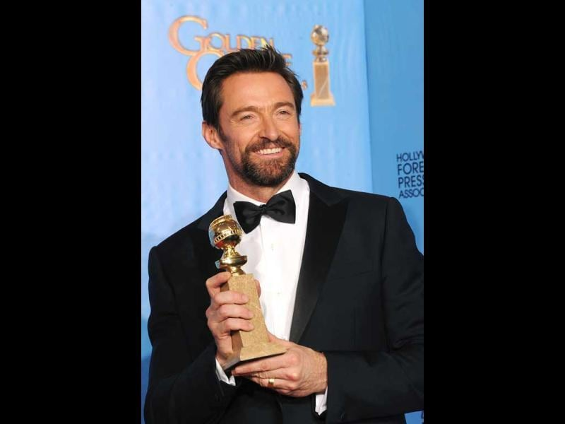 Actor Hugh Jackman poses in the press room during the 70th Annual Golden Globe Awards on January 13, 2013 in Beverly Hills, California. (Kevin Winter/Getty Images/AFP Photo)