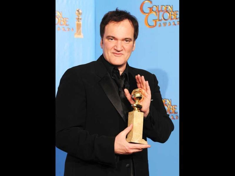 Director Quentin Tarantino at the 70th Annual Golden Globe Awards held on January 13, 2013. (Kevin Winter/Getty Images/AFP Photo)