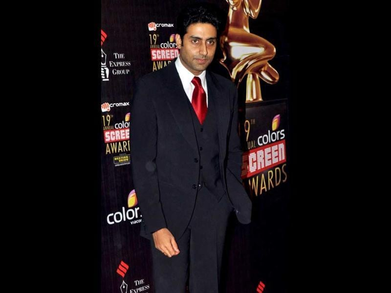 Abhishek Bachchan in a black suit at the event. (AFP Photo)