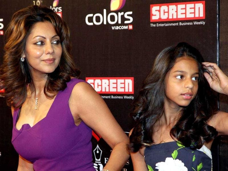 Gauri Khan with daughter Suhana at the event. (AFP Photo)