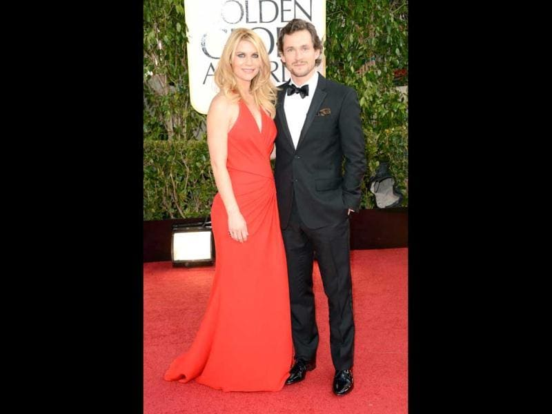Claire Danes and Hugh Dancy pose at the red carpet during the 70th Annual Golden Globe Awards. (AFP Photo)