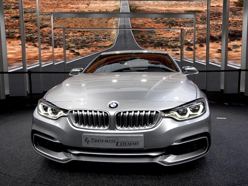 The BMW 4 Series Coupe Concept appears on display at media previews for the North American International Auto Show in Detroit. (AP Photo/Paul Sancya)