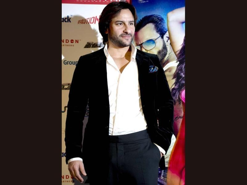 Saif Ali Khan at a photo call for his new action thriller film Race 2 in London. (AFP PHOTO)