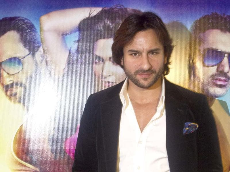 Saif Ali Khan at a photocall for Race 2 on Monday. (AP Photo)