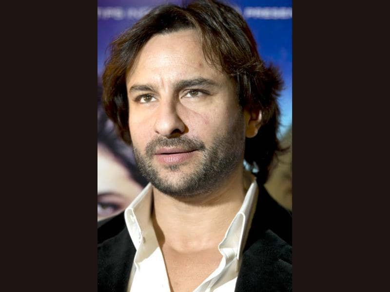 Saif Ali Khan poses for pictures during a photo call for his new film Race 2 in London on January 14, 2013. (AFP PHOTO)
