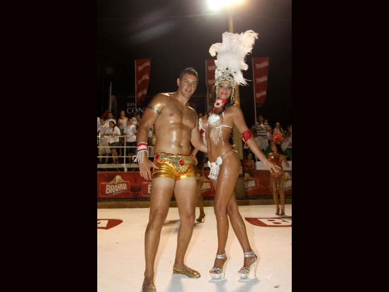 Dancers from a samba school perform during the first night of the