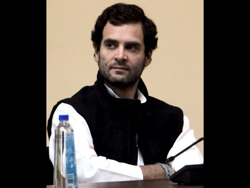 Rahul Gandhi after he was appointed as vice president of the Congress party in Jaipur. PTI Photo