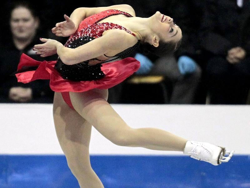 Kaetlyn Osmond skates in the senior women's long program at the Canadian National Figure Skating Championships in Mississauga Ontario. (Reuters)