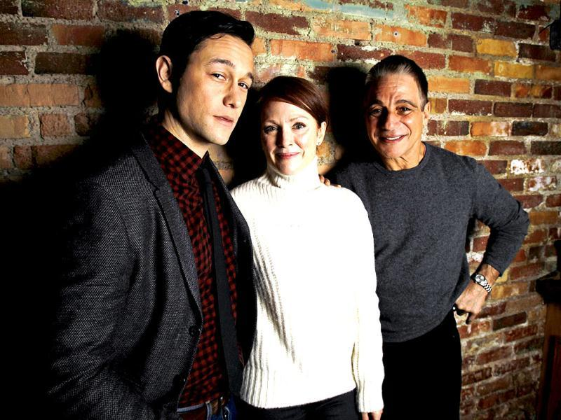 Cast members Joseph Gordon-Levitt (L), Julianne Moore (C) and Tony Danza of the film