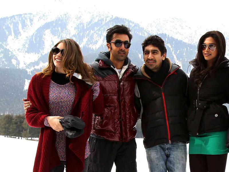 Do you know what ex-flames Ranbir Kapoor and Deepika Padukone are upto these days? The duo are busy shooting in Pahalgam for their upcoming film Yeh Jawani Hai Deewani. (Photo/Waseem Andrabi)