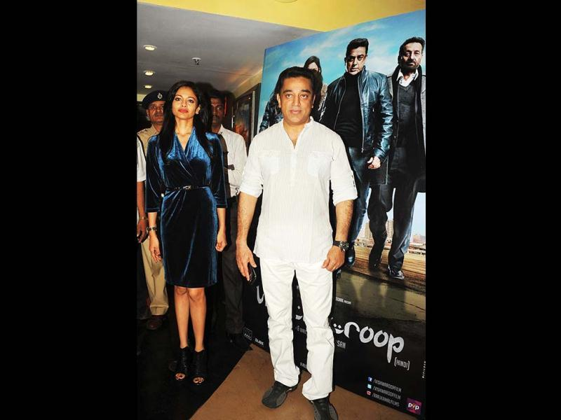 Kamal Haasan poses at a press conference about the controversy regarding his new film Vishwaroopam in Mumbai on January 31, 2013. Vishwaroop, the Hindi Vishwaroopam, released in Mumbai and Delhi on Friday. Kamal Haasan looks visibly relieved that his movie is finally in theatres. (AFP PHOTO)