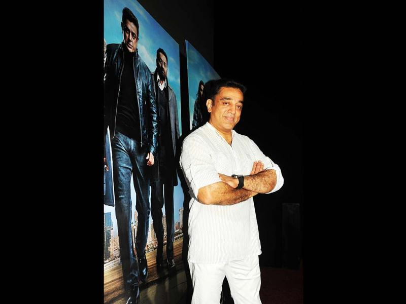 Kamal Haasan poses at a press conference about the controversy regarding his new film Vishwaroopam in Mumbai on January 31, 2013. (AFP Photo)