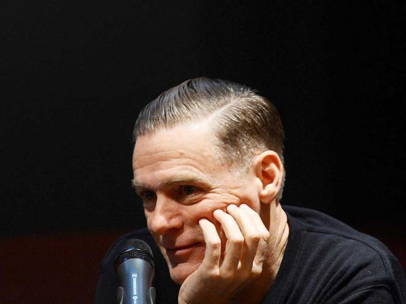 Canadian singer and artist Bryan Adams speaks at a press conference at the Museum NRW forum in Duesseldorf, Germany. AFP