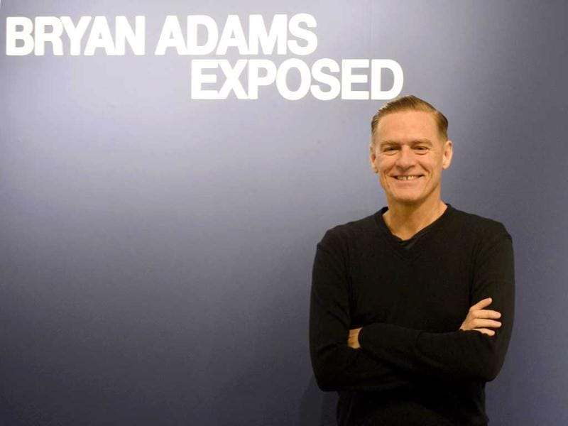 Canadian rockstar Bryan Adams poses during the opening of his photo exhibition in Duesseldorf, Germany. Adams shows pictures of his photo work like celebrity portraits, but also a series of portraits of injured soldiers coming home from Iraq and Afghanistan. AP